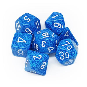 Chessex CHX25306 RPG Dice Set Speckled Water 7 pc