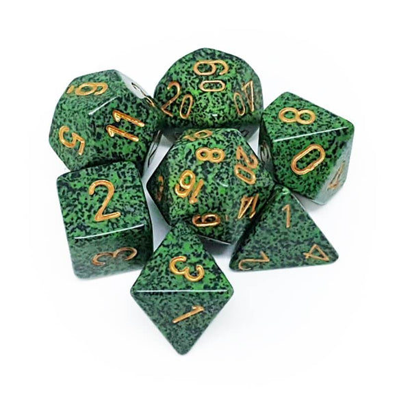 Chessex CHX25335 RPG Dice Set Speckled Golden Recon 7 pc