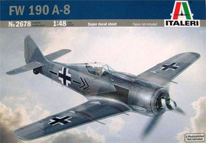 Italeri 2678, Focke-Wulf 190 A-8 German Fighter Plane, Scale 1:48