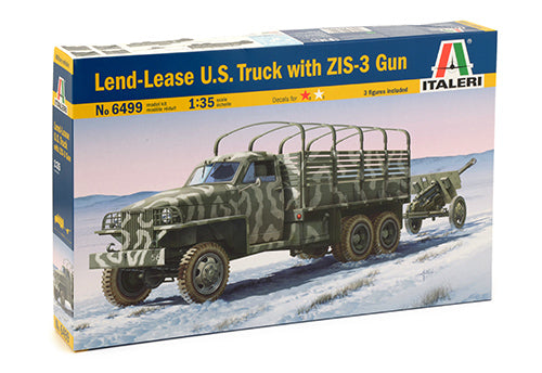 Italeri 6499, Lend-Lease U.S. Truck with ZIS-3 Gun, Scale 1:35