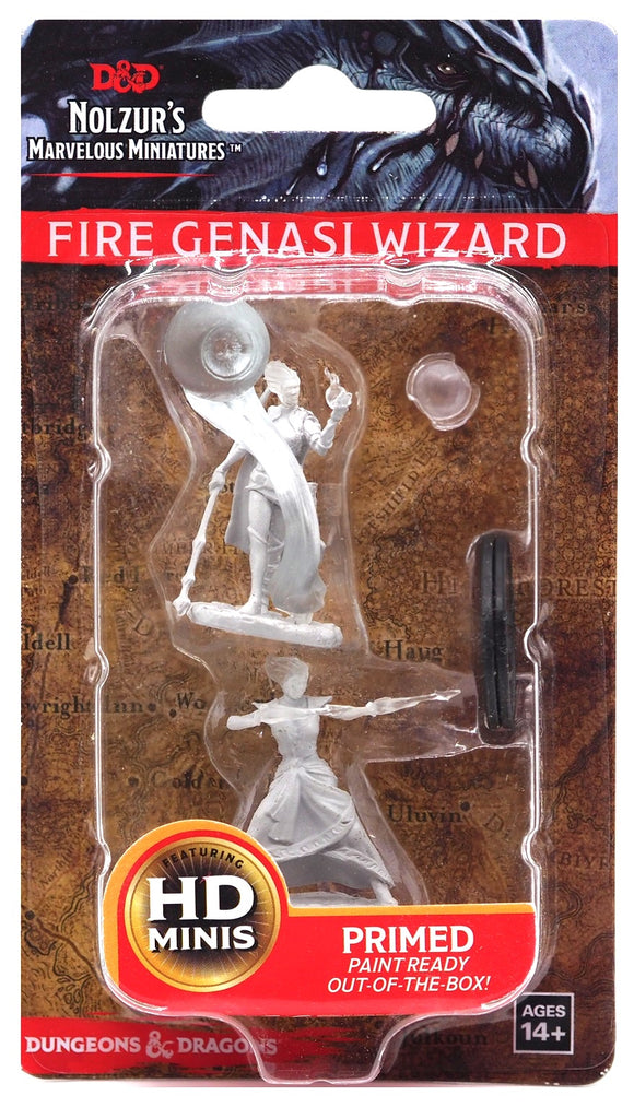 D&D Nolzur's Marvellous Miniatures - Fire Genasi Female Wizard