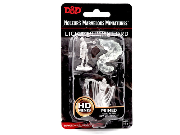 D&D Nolzur's Marvellous Miniatures - Lich and Mummy Lord