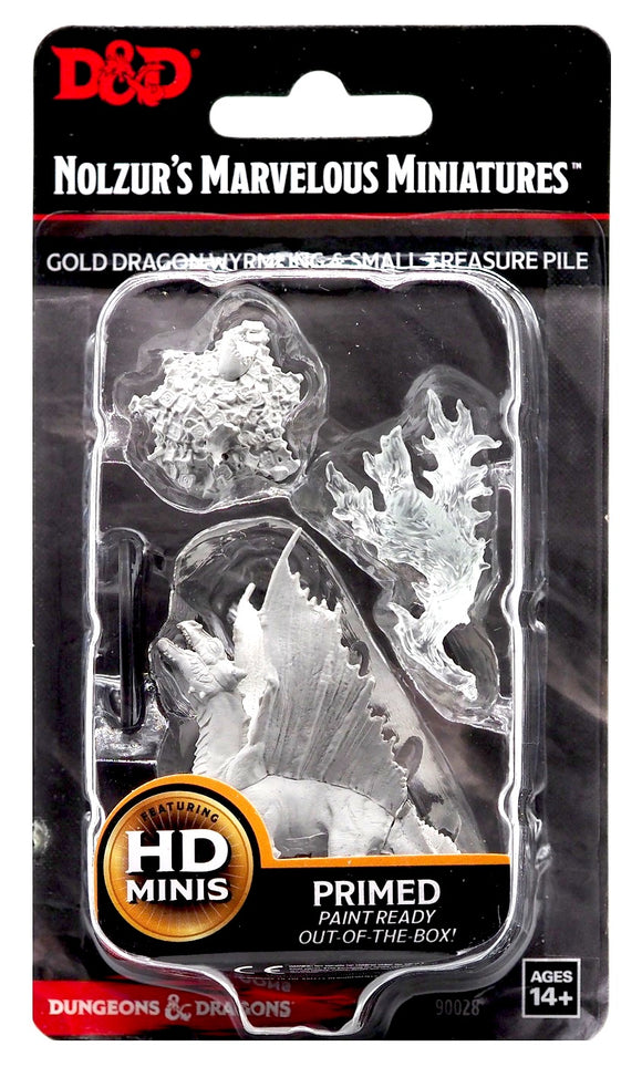 D&D Nolzur's Marvellous Miniatures - Gold Dragon Wyrmling & Small Treasure Pile