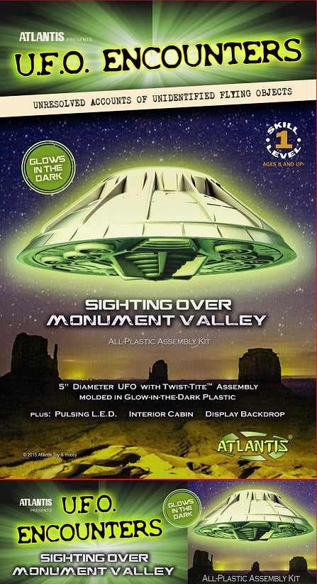 Atlantis AMC1007G- UFO Encounters, Sighting over Monument Valley, (Glow in the Dark)