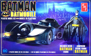 AMT1107M - 1989 Movie Batmobile with resin Batman Figure, 1:25 Scale