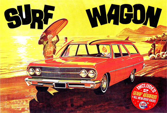 AMT1131 - Surf Wagon - 1965 Chevelle,includes surfboards, 1:25 Scale