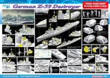 DR1037 Dragon. German Z-39 Class Destroyer. Scale 1:350. FREE POSTAGE