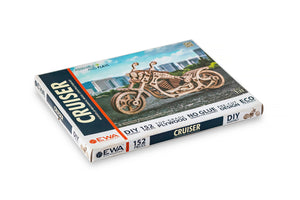 EWA Wooden Cruiser Motorcycle Scale 1:11