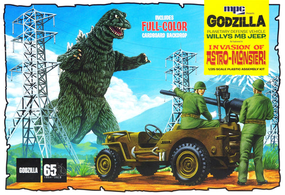 MPC - Godzilla Willys Jeep, Invasion of the Astro Monster, 1:25 Scale