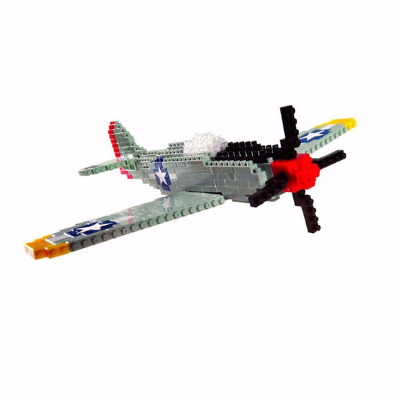 P-51 Mustang WWII Fighter Plane - Challenger Series - 480 Pieces, Level 3