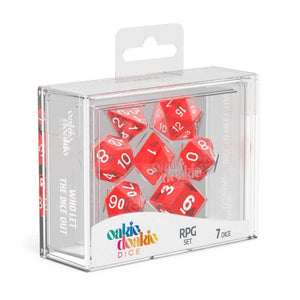Oakie Doakie ODD500009 RPG Dice Set Translucent Red 7 pc