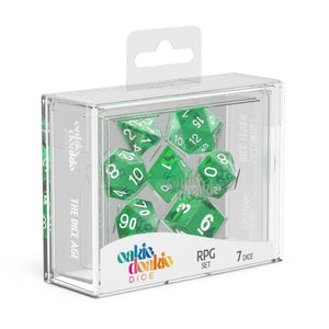 Oakie Doakie ODD500010 RPG Dice Set Translucent Green 7 pc
