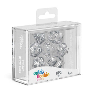 Oakie Doakie ODD500015 RPG Dice Set Translucent Clear 7 pc