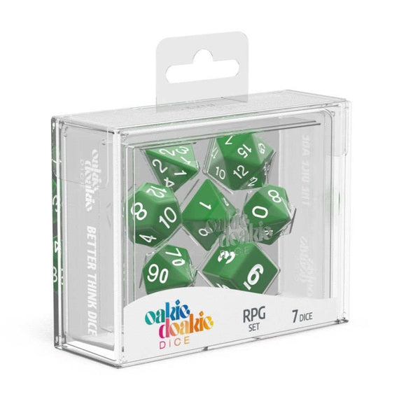 Oakie Doakie ODD500025 RPG Dice Set Solid Green 7 pc