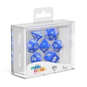 Oakie Doakie ODD500026 RPG Dice Set Solid Blue 7 pc