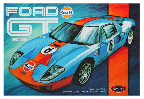 POL955M Polar Lights, Gulf Ford GT 2006, 1:25 Scale