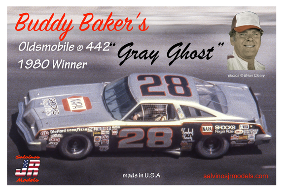 SJR-01806 Salvinos Jr, Buddy Baker's Grey Ghost 1980 Oldsmobile. 1:25 Scale FREE Postage