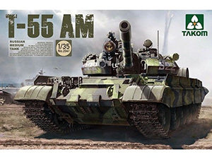 Takom 2041, Russian Medium Tank T-55 AM. Scale 1:35