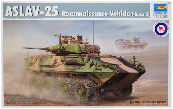 Trumpeter TR00392 - ASLAV-25 Reconnaissance Vehicle (Phase 3) 1:35 Scale