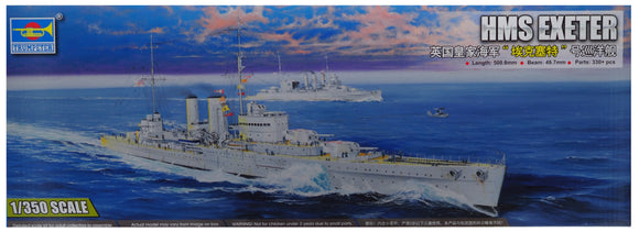 Trumpeter TR05350 - HMS Exeter 1:350 Scale FREE POSTAGE