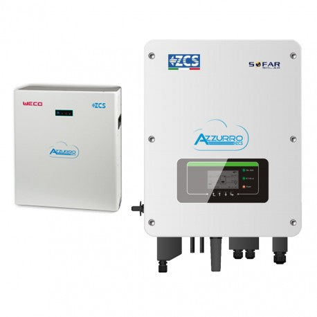 Kit per accumulo - Inverter ZCS ZST-HYBRID HYD3000 Potenza 3 kW con Batteria WECO 6.4 kWh