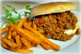 Sloppy Joe w/ GF Bun & Sweet Potato Fries