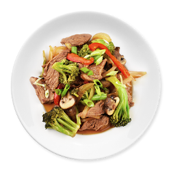 Asian Broccoli & Beef on Plate