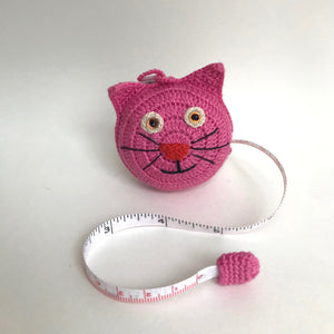 Prym Crocheted Cat Retractable Measuring Tape