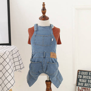 Pet Jean Overalls for Small dogs.
