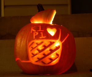 Pumpkin Carving Tutorial: Knit Themed Edition!