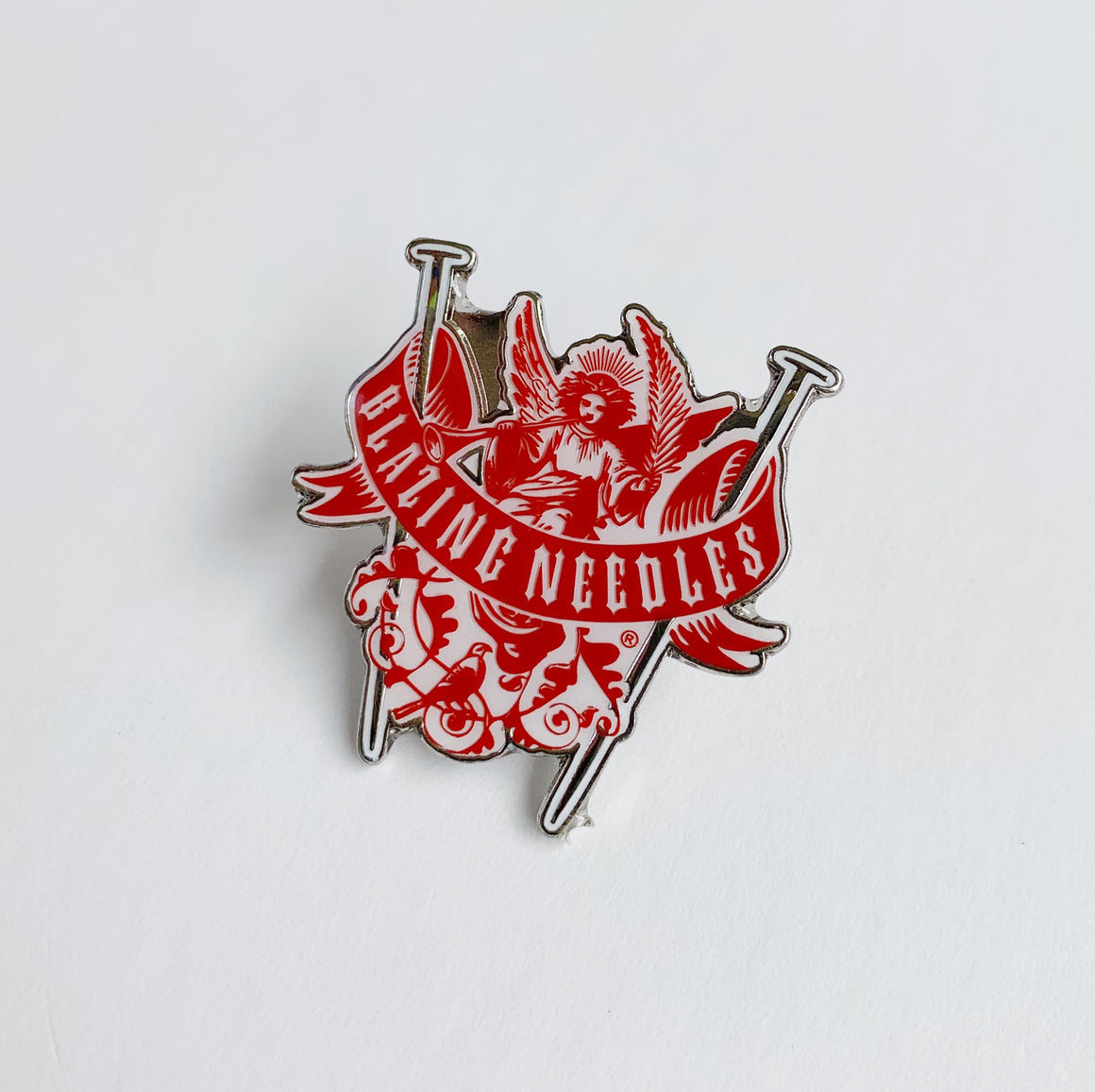 Blazing Needles Enamel Pin