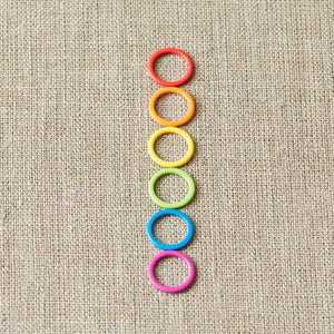 Colored Ring Stitch Markers - Large