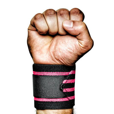 MANIMAL Breast Cancer Pink Wrist Wraps