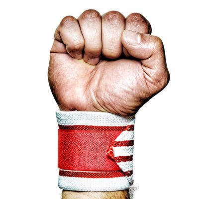 MANIMAL USA RED WHITE BLUE OLD GLORY WRIST WRAPS