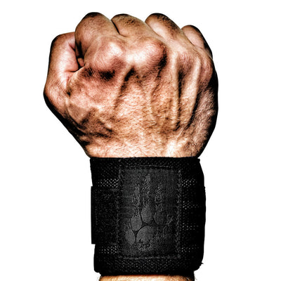 Black Wrist Wraps CrossFit, Weightlifting, Powerlifting, Strongman, Bodybuilding