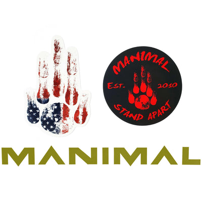 MANIMAL Sticker OD Green