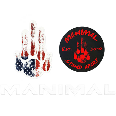 MANIMAL Stickers White