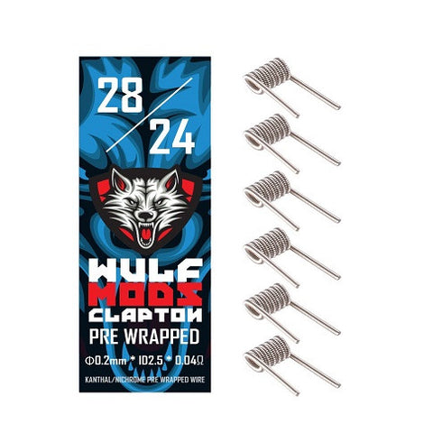 Wulf Mod Pre-Wrapped Clapton Kanthal Coils (6 Pack)