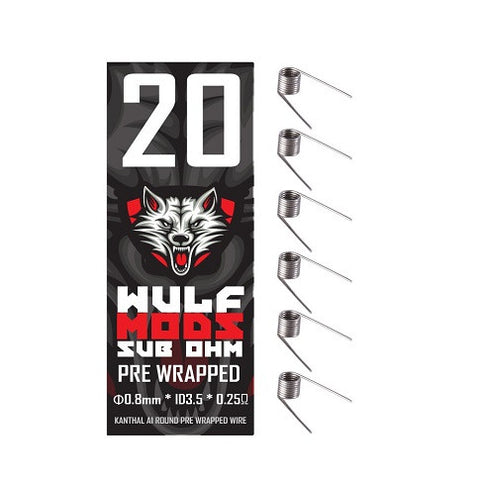 Wulf Mods Pre-Wrapped Straight Kanthal Coils (6 Pack)