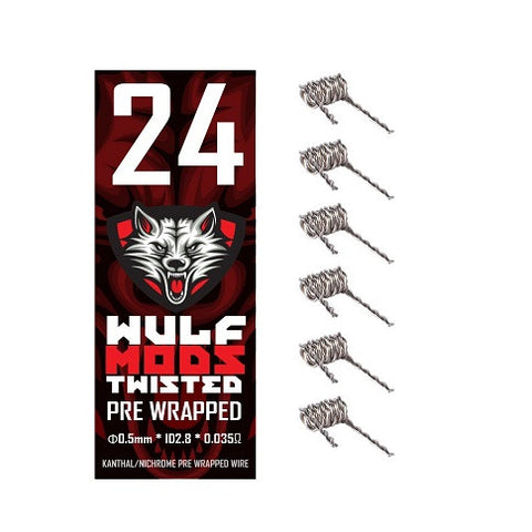 Wulf Mods Pre-Wrapped Braided Kanthal Coils (6 Pack)