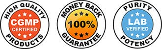 ♥ MADE IN THE USA cGMP FACILITY<br>♥ 90-DAY MONEY BACK GUARANTEE<br>♥ FREE SHIPPING ON ORDERS OVER $50<br>