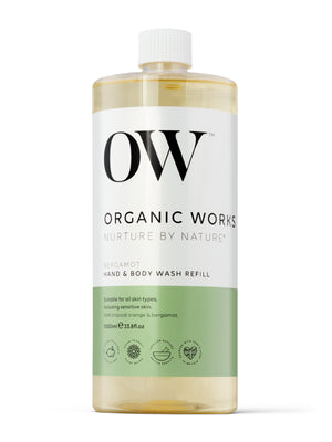 Load image into Gallery viewer, OW 1 Litre Refill of Bergamot Hand and Body Wash on a white background