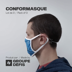ConforMasque transparent (paquet de 3)