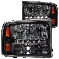 ANZO FORD SUPER DUTY CRYSTAL WITH LED STRIP - CLEAR OR SMOKED (1999-2004)
