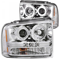 ANZO PROJECTOR HEADLIGHTS WITH LED & HALOS- CLEAR OR SMOKED (2005-2007)