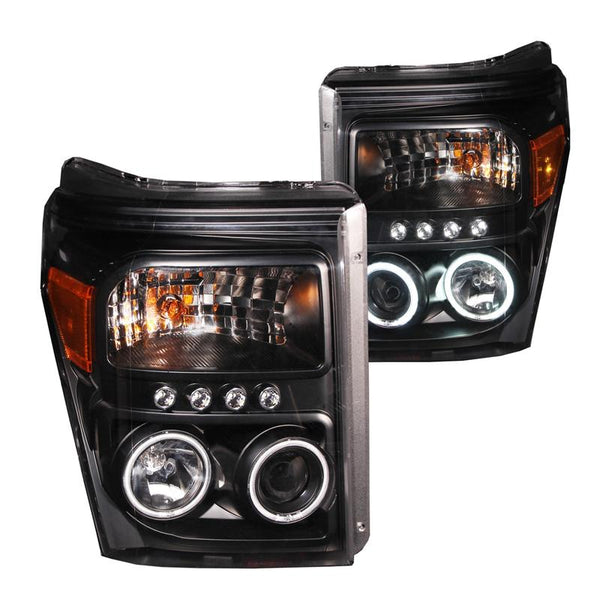 ANZO BLACK PROJECTOR HEADLIGHTS - 6.7L (2011-2016)