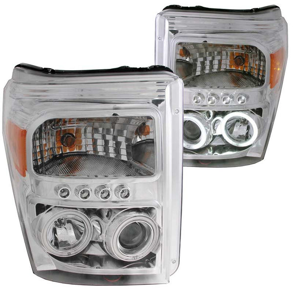 ANZO CHROME PROJECTOR HEADLIGHTS - 6.7L (2011-2016)