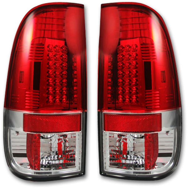 RECON RED LED TAIL LIGHTS - 7.3L / 6.0L  (1999-2007)