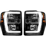 RECON SMOKED PROJECTOR HEADLIGHTS WITH OLED U-BAR 6.4L (2008-2010)