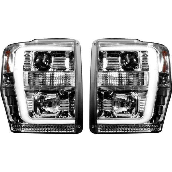 RECON CLEAR PROJECTOR HEADLIGHTS WITH OLED U-BAR 6.4L (2008-2010)